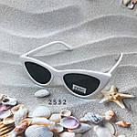 Модные черные ретро-очки с белой оправой, фото 3