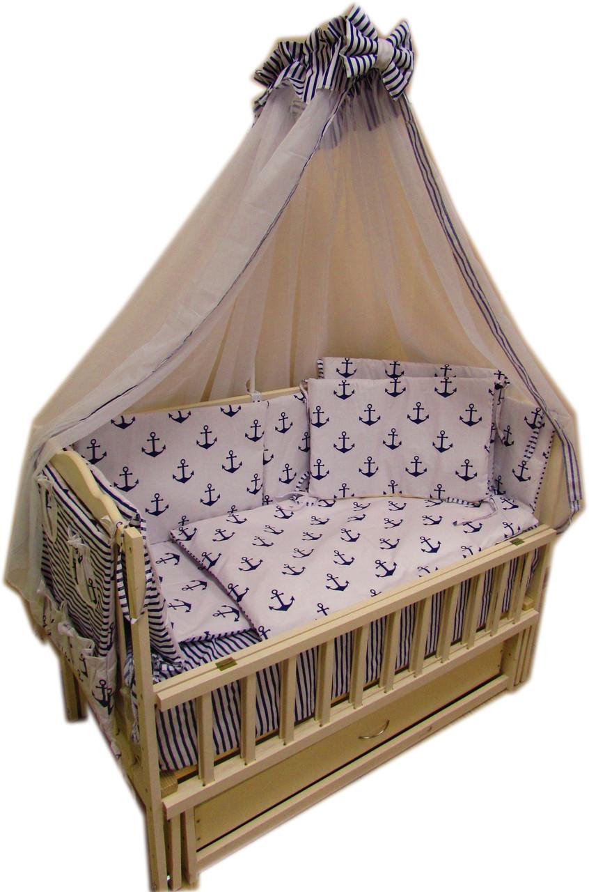 """Комплект постельного белья """"Baby 14 элементов морячок"""""""