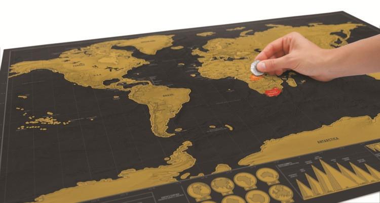 Скретч карта мира, 30*42 см