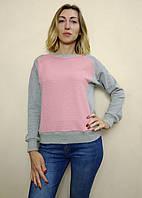 Трикотажный женский свитшот, комбинированный