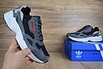 Кроссовки Adidas Falcon, серо-черные, фото 2