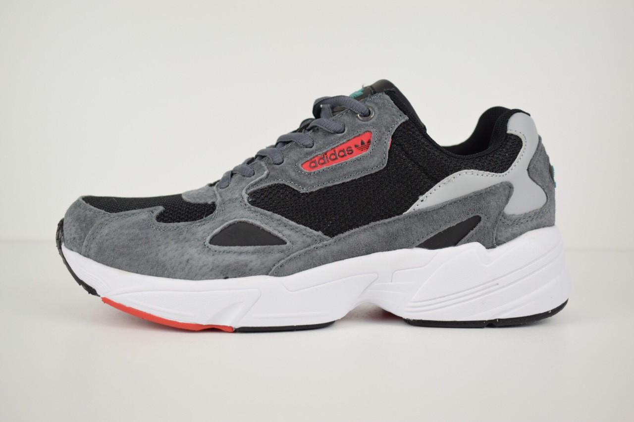 Кроссовки Adidas Falcon, серо-черные