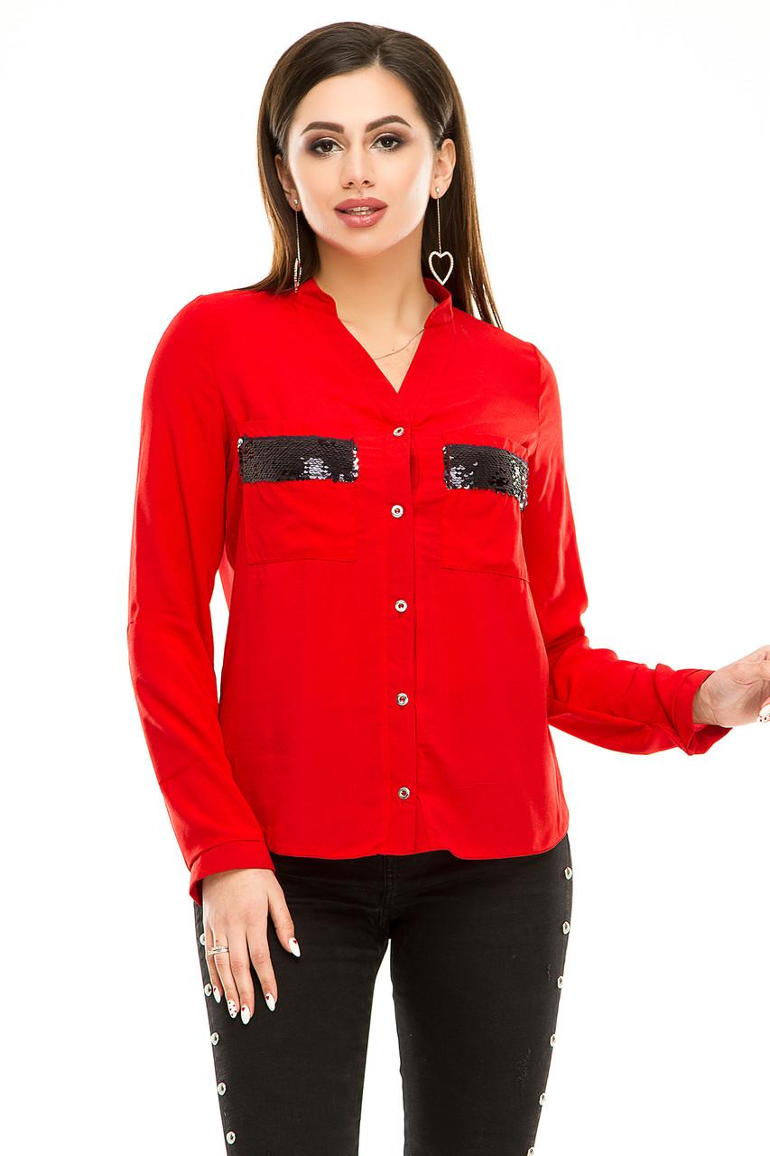 Блузка 290  красная