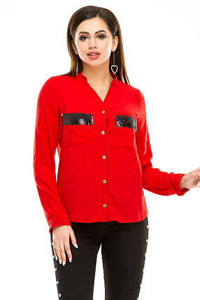 Блузка 290  красная, фото 2
