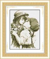 Набор для рисования камнями (холст) «Первый поцелуй» LasKo