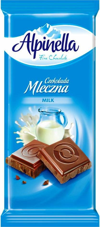 Шоколад Alpinella Mleczna