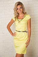 Стильное женское платье с поясом 865, фото 1