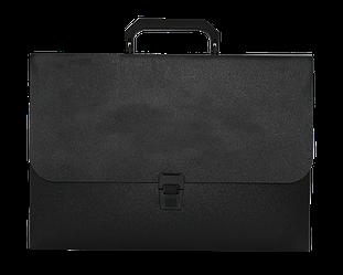 Портфель A4/35мм, JOBMAX, чорний