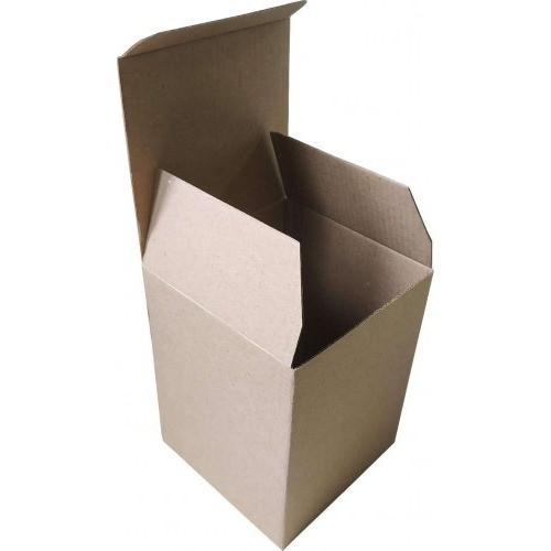 Самосборная картонная коробка - 120 × 120 × 155 - бурая / объем 0,8 кг