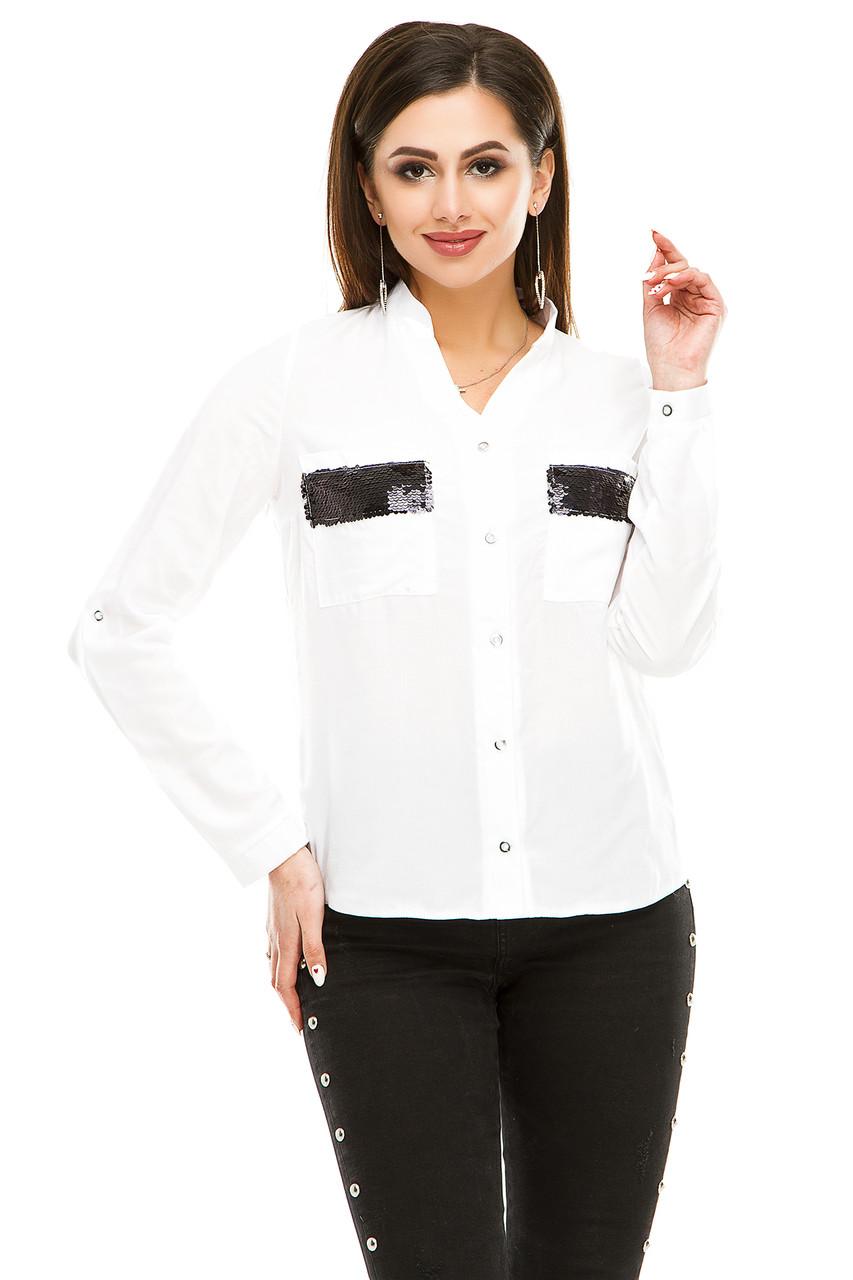 Блузка 290  белая