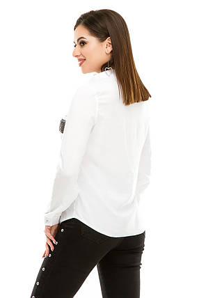 Блузка 290  белая, фото 2
