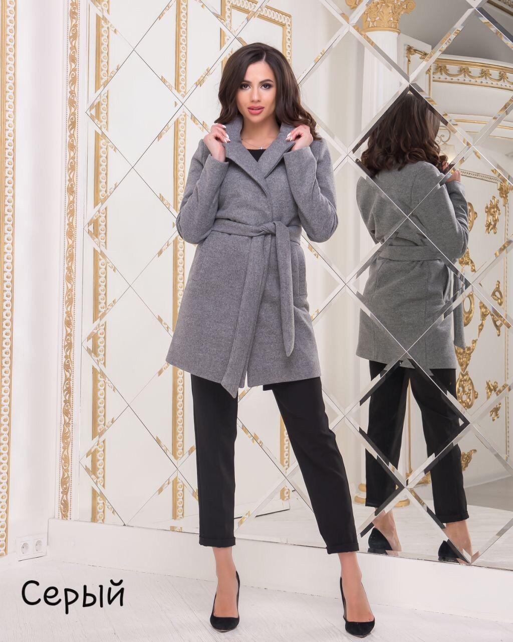Женское демисезонное шерстяное пальто