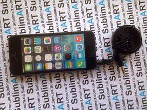 AUX кабель плоский черный mini-jack, 1 м., фото 3
