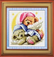 Набор для рисования камнями (холст) «Спящие мишки» LasKo