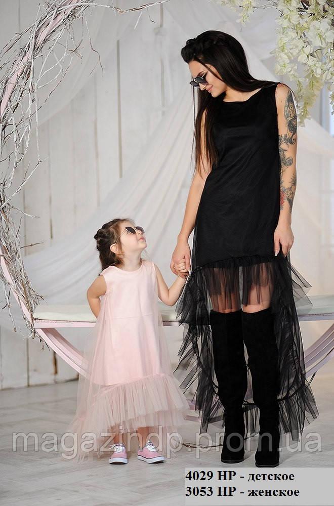 Парная одежда вечернее платье детское 4029 НР Код:536213438