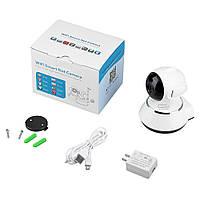 Компактная беспроводная IP SMART камера с панорамным обзором, датчиком движения и ночного виденья 360°V380-Q6