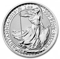 Серебряная монета Великобритания 2 фунта 2019 год. Серебро 999.9 пробы.