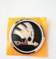 ОРИГІНАЛЬНА емблема Шкода Skoda чорна з хромом нового зразка SkodaMag, фото 1