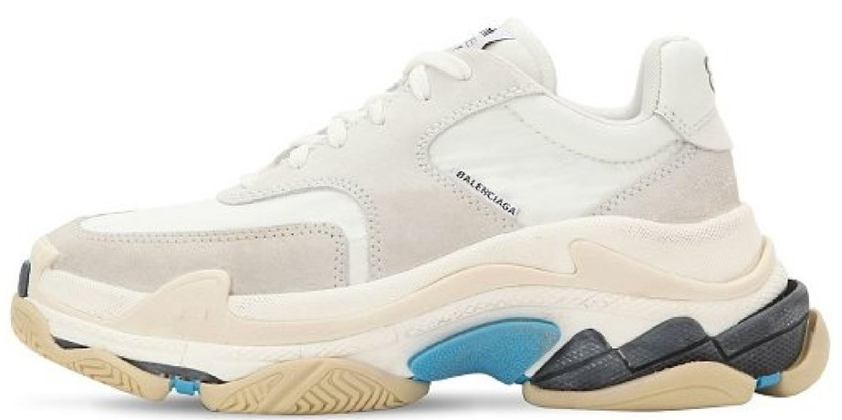 Женские кроссовки Balenciaga Triple S (Баленсиага) белые