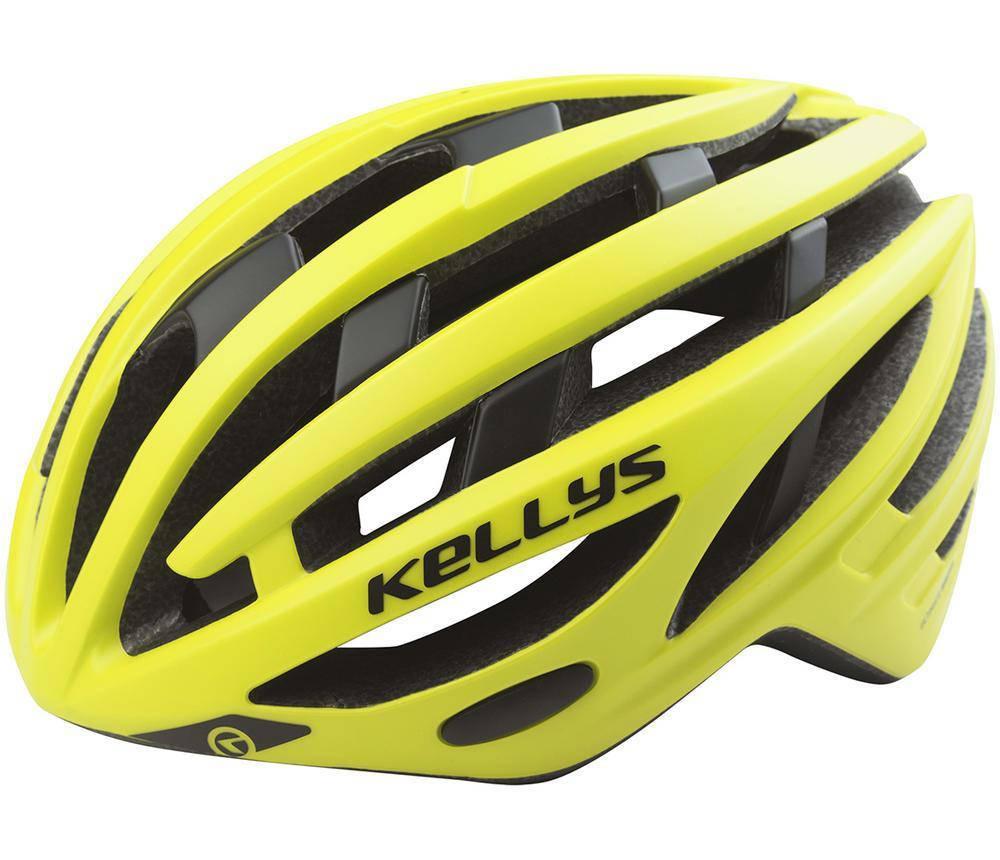 Шолом велосипедний KLS SPURT S-M Neon Yellow, фото 2