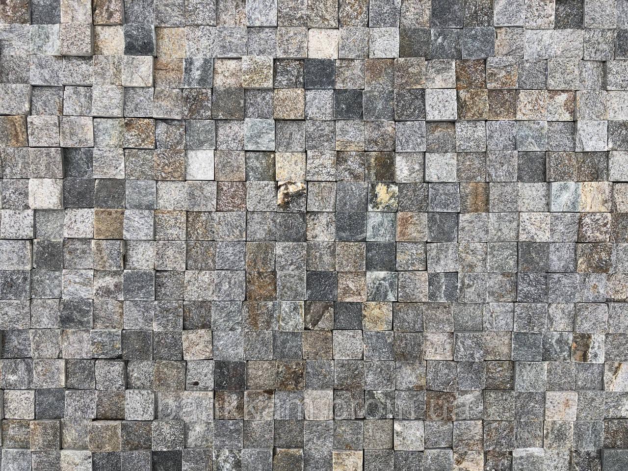 Мозаїка-панель Срібна Болгарія преміум (без шва для фуги; уп. 0,5 кв.м.)
