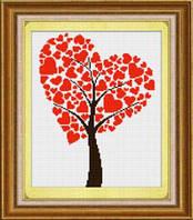 Набор для рисования камнями (холст) «Древо любви» LasKo