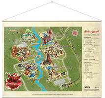 Плакат Gaya Fallout Wallscroll - Nuka World Map