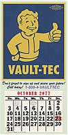 Плакат Gaya Fallout Poster - Vault-Tec Calendar