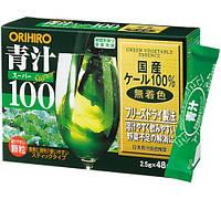 ORIHIRO Зеленый сок аодзиру в порошке Super 100 120г 48пак