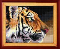 Набор для рисования камнями (холст) «Королевский тигр» LasKo