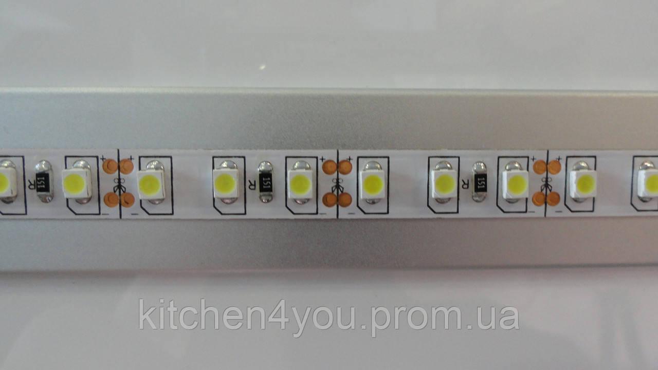 Светодиодная лента без силикона SMD 35x28 120 шт./1 м. белый теплый