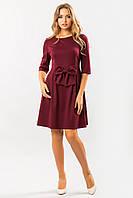 Бордовое платье с бантом, фото 1