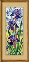 Набор для рисования камнями (холст) «Ирисы» LasKo