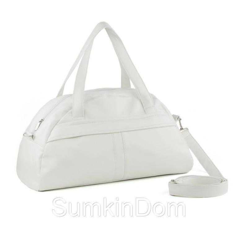 Спортивная сумка Kotico Sport 43х23х16 см белый лаки, фото 1