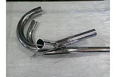Трубы выхлопные на один глушитель рога