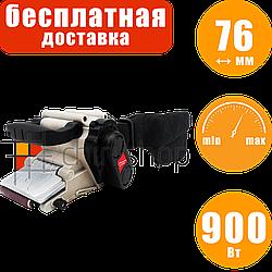 Ленточная шлифовальная машина с регуляцией Авангард ЛШМ 76/900Б, шлифмашина ленточная по дереву, 76 мм