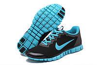 Кроссовки женские Nike Free Run 3.0, Чёрный\Бирюзовый