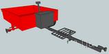 Прицеп-самосвал большой ТМ ПроТек (125х190) под жиг. ступицу, без колёс, фото 2