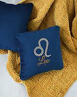 Подушка подарочная гороскоп «Лев» флок