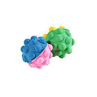 Мяч зефирный мина двухцв, 4,5 см в пакете 4 шт