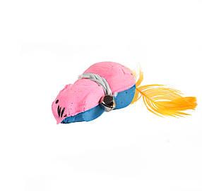 Мяч зефирный мышь трехцв, 7 см 60 шт