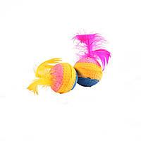 Мяч зефирный радуж, трехцв, 4 см в пакете 4 шт