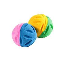 Мяч зефирный цветоч,  двухцв, 4 см в пакете 4 шт