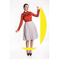 Блуза из шелкового атласа терракотового цвета