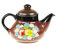"""Заварочный чайник керамический """"Яблоки в цветах"""" 1л"""