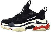 Мужские кроссовки Balenciaga Triple S Black в стиле Баленсиага Трипл С Многослойная подошва черные