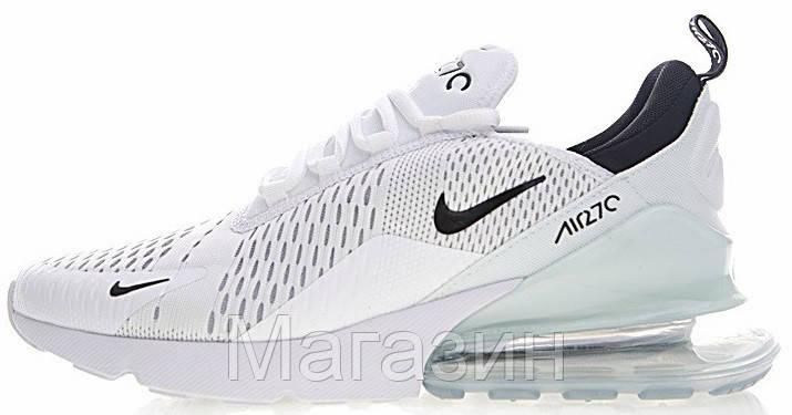 Женские кроссовки Nike Air Max 270 White (Найк Аир Макс 270) белые