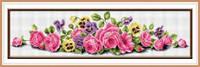 Набор для рисования камнями (холст) «Розовые розы» LasKo