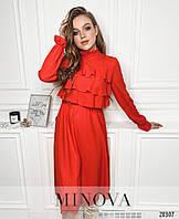 Романтичное платье с завышенной талией на резинке и рюшами размеры М-ХL, фото 1