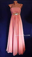 Платье вечернее, персиковое., фото 1